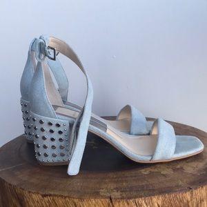 Dolce Vita Dorah Ankle Strap Denim Studded Heel
